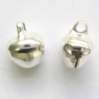 100 Silver plated 8mm Jingle Bell Charms